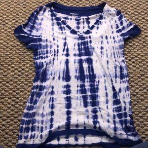 Blue/white tie dye T-shirt